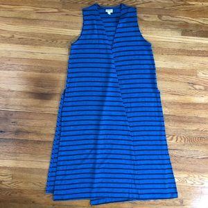 LuLaRoe striped Joy Vest